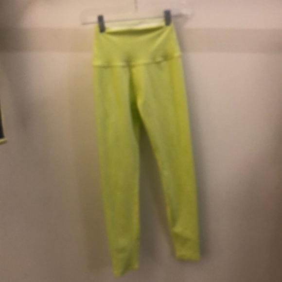 Beyond Yoga Pants - Beyond yoga neon yellow crops sz xs 68601